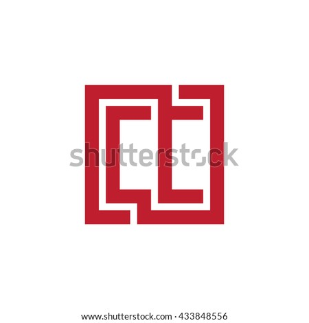 CC initial letters looping linked square logo red