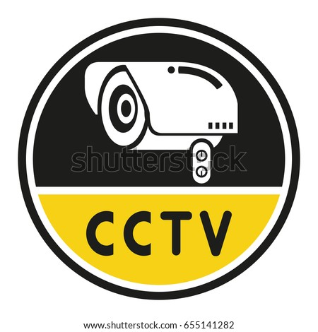 Cctv Security Camera Symbol Stock Vector 2018 655141282 Shutterstock