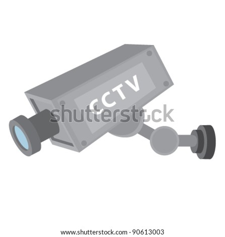 CCTV security vector illustration - stock vector