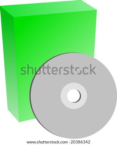 cd box - stock vector