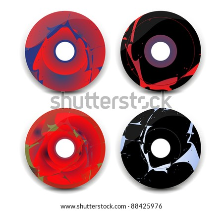 CD cover, abstract digital...eps10 - stock vector