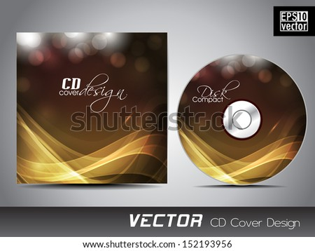CD cover design template with text space. - stock vector