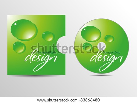 CD cover design. Vector eps10 - stock vector