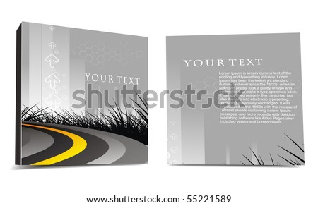 CD cover design with space of your text, best used of your project, vector illustartion. - stock vector
