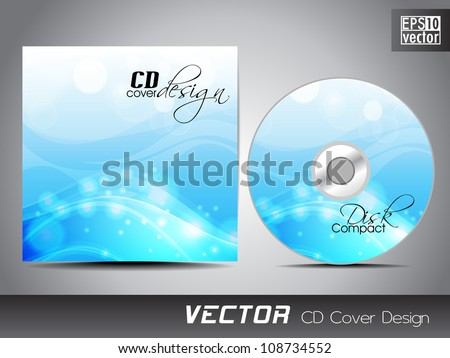 CD cover design with water wave splash. EPS 10.