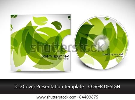 cd cover presentation design template , editable vector illustration - stock vector