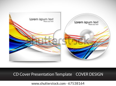cd cover presentation design template , vector illustration - stock vector
