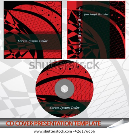 CD cover with abstract pattern - Vector illustration.