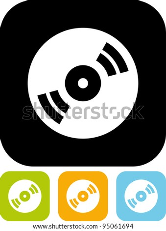 CD disc - Simple vector icon - stock vector