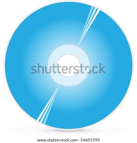 CD DVD Blue-ray disc - stock vector