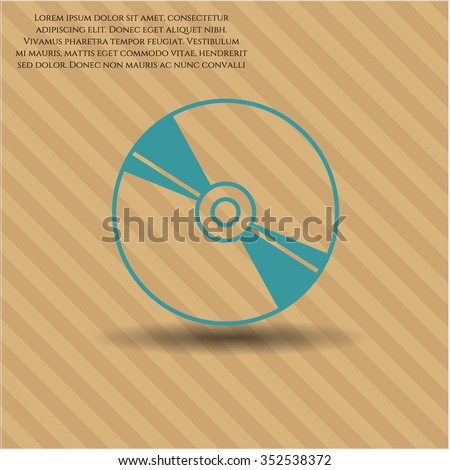 CD, DVD or Blu Ray disc icon - stock vector