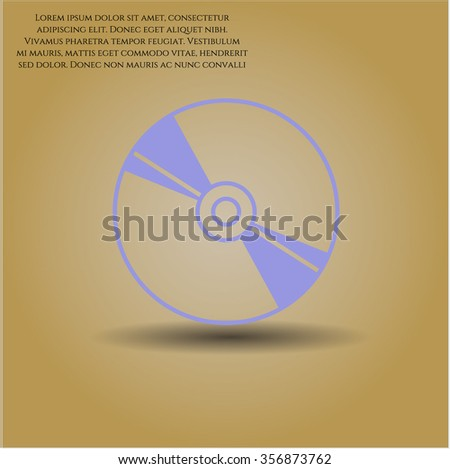 CD, DVD or Blu Ray disc symbol - stock vector
