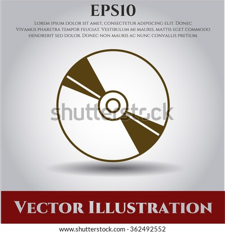 CD, DVD or Blu Ray disc vector symbol - stock vector