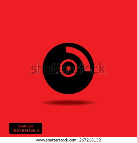 CD / DVD  - Single Icon Series vol. 10 - stock vector