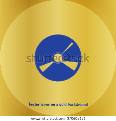 CD icon. Vector Eps 10 - stock vector