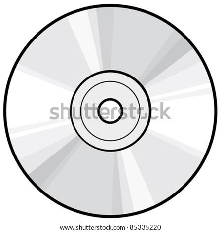 CD or DVD disc - stock vector