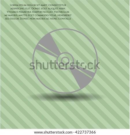 CD or DVD disc vector icon - stock vector