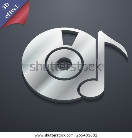 CD or DVD  icon symbol. 3D style. Trendy, modern design with space for your text Vector illustration - stock vector