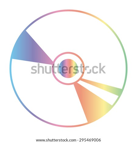 CD or DVD icons - stock vector