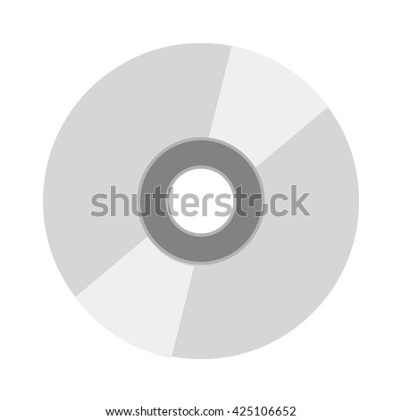 CD vector illustration. CD isolated on white background. CD vector icon illustration. CD isolated vector. CD silhouette - stock vector