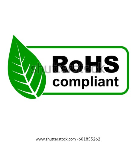 CE Ro HS Compliant Sign Green Leaf Stock Vector 601855262 - Shutterstock