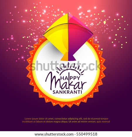 Celebrate makar sankranti greeting card background stock vector celebrate makar sankranti greeting card background stock vector 550499518 shutterstock m4hsunfo