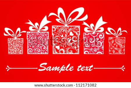 Celebration background with gifts box and place for your text. Vector illustration - stock vector
