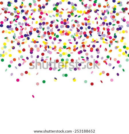 Celebration confetti card - vector