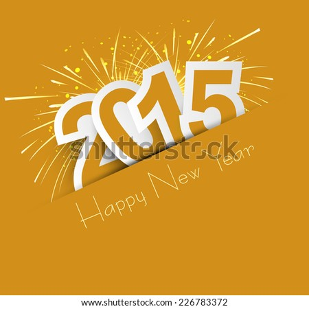 Celebration for new year 2015 colorful vector illustration - stock vector