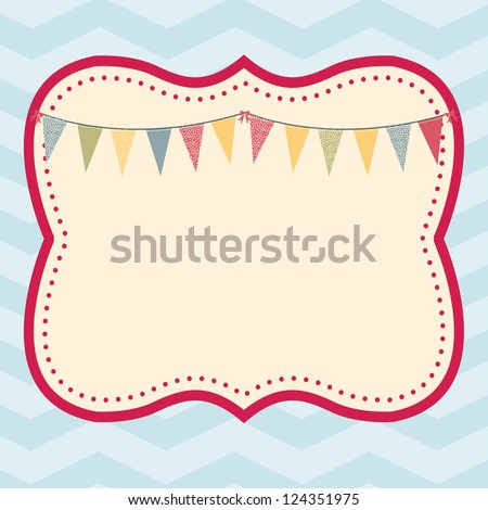 Celebration Frame This Fun Trendy Frame Stock Vector 124351975 ...