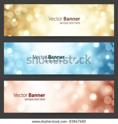 Celebration light vector banner or header set eps 10 - stock vector