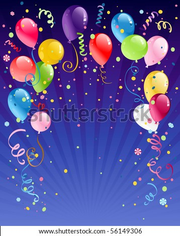 Celebration  night background with space for text - stock vector
