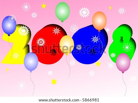 celebration of new year - stock vector
