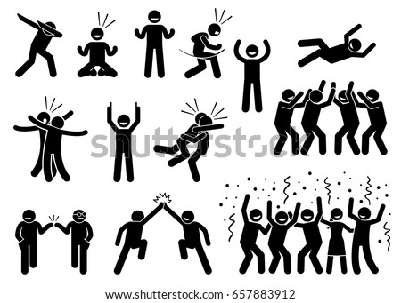 stock vector celebration poses and gestures artwork depicts people celebrating in various styles such as 657883912 dab stock images, royalty free images & vectors shutterstock