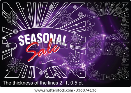 Celebratory background with an christmas element of flat lines for your message