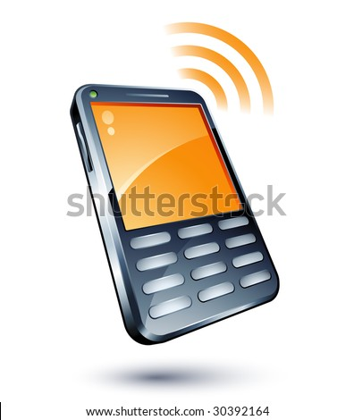 Cell Phone - stock vector