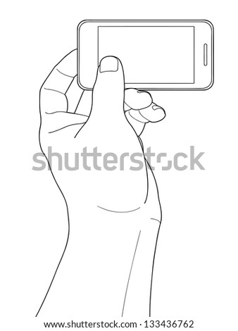 Cell phone and hand