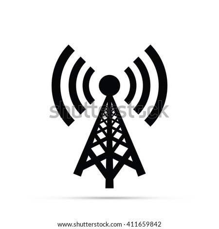 Cell Tower Icon Vector