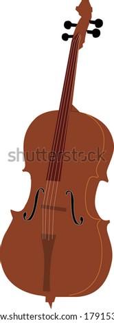 Cello vector - stock vector