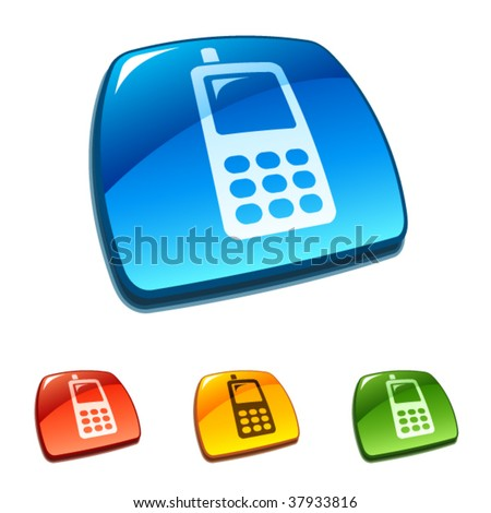 Cellphone buttons - stock vector
