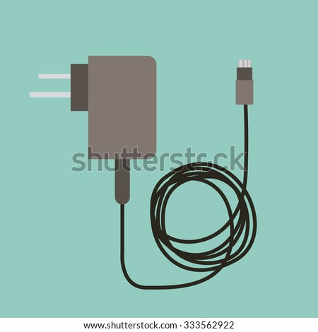 cellphone charger design, vector illustration eps10 graphic  - stock vector