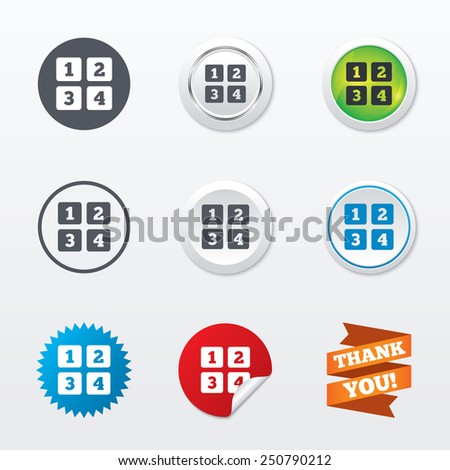 Cellphone Keyboard Sign Icon Digits Symbol Stock Vector 250790212