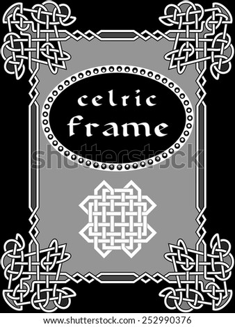 celtic frame an element of design in the Irish style - vector - stock vector