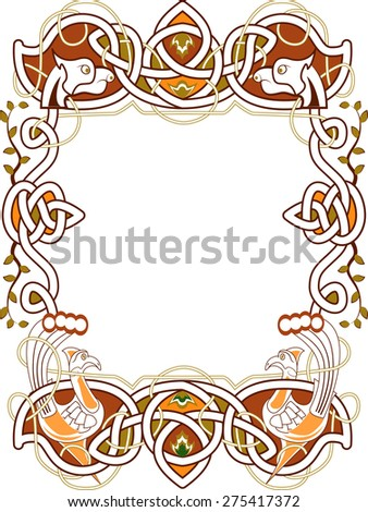 celtic frame in the Irish style - vector - stock vector