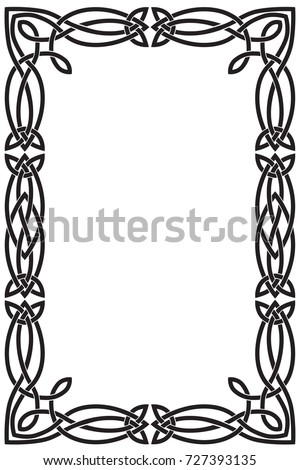 celtic frame rectangular vertical black vector stock vector rh shutterstock com ornament celtic border vector celtic border vector free