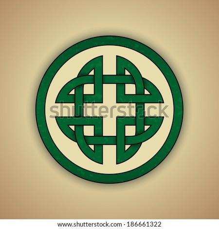 Celtic Knot Symbol Strength Vector Illustration Stock Vector