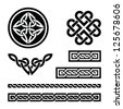 Celtic knots, braids and patterns - vector - stock vector