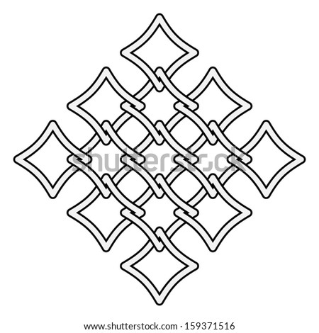 Celtic knots fences  pattern on white background - stock vector