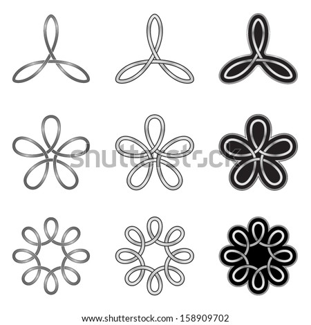Celtic Knots Patterns and Templates - stock vector