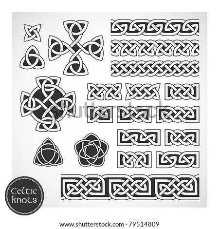 celtic knots vector illustration - Celtic Patterns To Colour